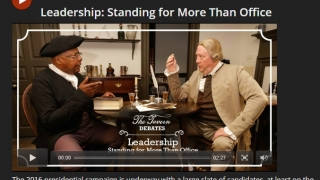 Short videos highlight historical figures and issues.