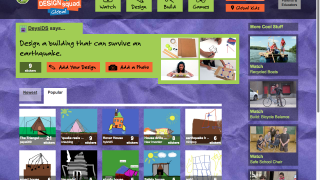 The Build section gives step-by-step instructions and lets students submit ideas.