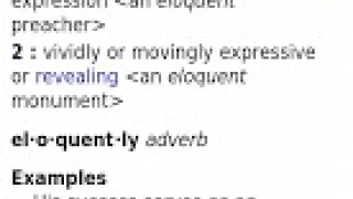 """Entry for """"eloquent"""" in full-screen mode."""