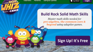 Digitwhiz is a free elementary and middle school math practice website.