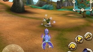 Navigate the island to find eggs and fossils.