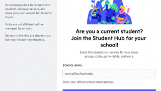Students can sign up for school-specific Discord servers.