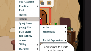 A wide range of actions and facial expressions helps the animations come to life.