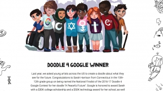 Students can participate in a doodle for Google contest.