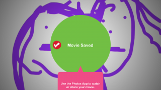 When the drawing is finished, kids choose save and wait just a moment for the movie to save.