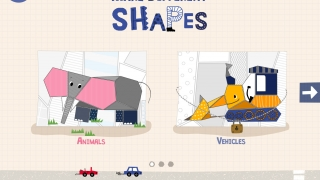Make pictures using the featured shapes.