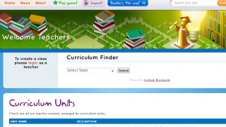 You can access the site as either a student or teacher.