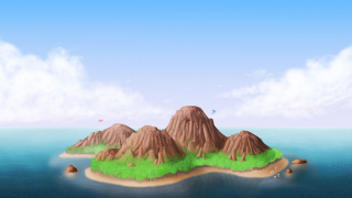 The setting of Dragon Breeder is an oasis island, populated by the scaly subjects.