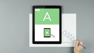 Place the device on a drawing surface and draw around it as the instructions suggest.