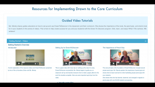 Courses include helpful getting started videos.