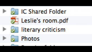 Dropbox folders blend in with the others, identifiable by a green checkmark.