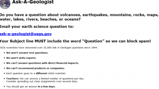 Ask-A-Geologist allows kids to send questions to a real scientist.