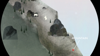 Kids can tap and swipe to learn about Earth processes such as rockslides.