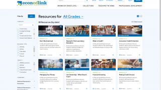 Teachers, parents, and students can browse lessons by grade level, topic, subject, and material type.