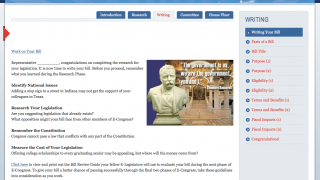 Each step in a bill's creation is here. This page explores how to write a bill.