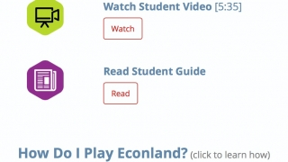 To get started, students have the option to review a student guide or video.