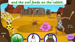 Kids identify producers and consumers in a food chain.