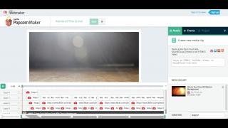 Kids compose the video in the middle of the screen and use a sidebar on the right to drag in media.