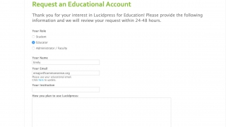 Educators can request a free upgrade to a premium account.