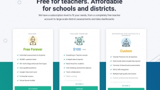 Teachers can use the platform for free, and there are individual and enterprise subscriptions available.