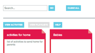Playlists can be sorted by age, intended skill, or media type.