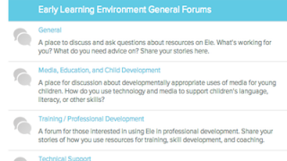Ele also provides helpful resources for adults, including professional development and technical support.