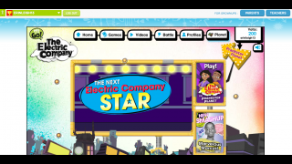 The Electric Company website has videos and games that reinforce language skills featured on the show.