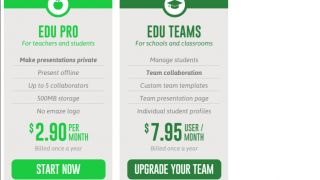 Educational plans include features for privacy, collaboration, custom templates, and cloud storage.