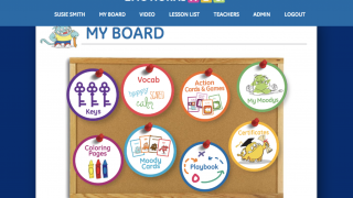 Students can earn activities and prizes on their board.