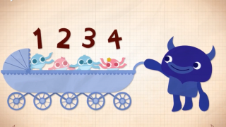 Games end with a short animation about a number.