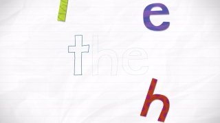 "Kids put the letters back in place to hear the word ""the""; with the letter order option, kids must drag letters back in the correct order."