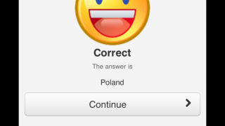 Correct answers result in immediate, encouraging feedback.