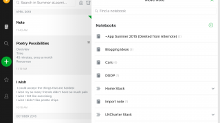 Move notes among your notebooks via drag and drop.
