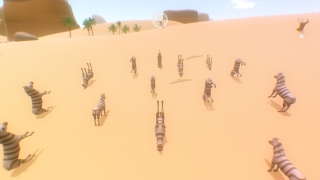 The player can attract other objects of the same type to them and move around as a herd.