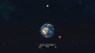 Players can zoom out to celestial objects.