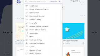 Teachers and students have access to a huge catalog of presentations.