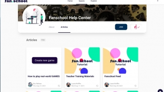Teachers should join the Fanschool Help Center space to access tutorials.