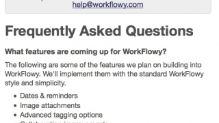 An extensive FAQ section covers all aspects of the site.