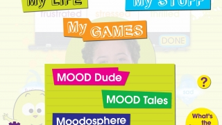 Explore identifying and expressing emotions through games and activities organized into three areas.