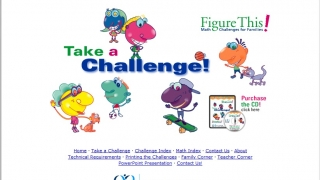 Figure This! provides math challenges for families and classrooms.