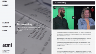 Beginning with Screenwriting, the ACMI folks pull students into the film world with humor and clarity.