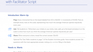 Scripted lessons follow the standard format so any teacher can feel comfortable presenting this information.