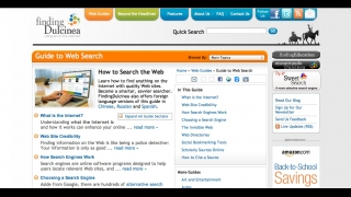 The web search information can help kids learn to identify valid online resources.
