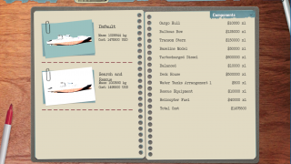 Stats for saved ships can be studied outside of dry dock, including cost ...
