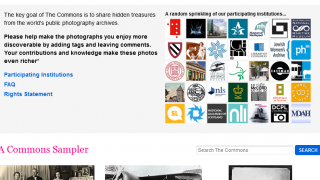 The Flickr Commons catalogs and tags historical photos.