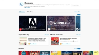 Educators have access to the Discovery library, which includes topics developed by other educators, corporate partners, and nonprofit organizations.
