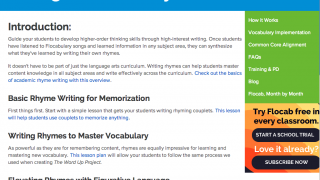 """The """"Writing Academic Rhymes"""" guide could help to inspire reluctant students."""