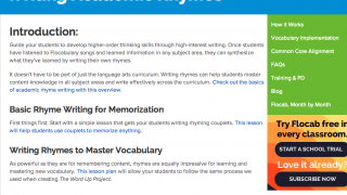 "The ""Writing Academic Rhymes"" guide could inspire reluctant students."