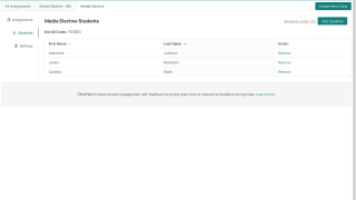 Manage classes, students, and assignments from the teacher dashboard.