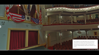 Take a virtual tour of the theater or watch videos including academic discussion and plays.